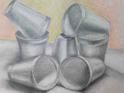 drawing of cups