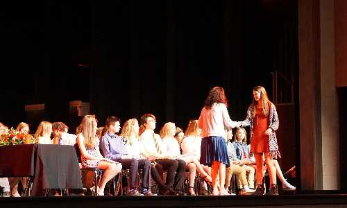 National Honor Society induction ceremony.