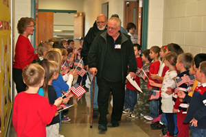 ... veterans were honored with student's songs and poems of appreciation
