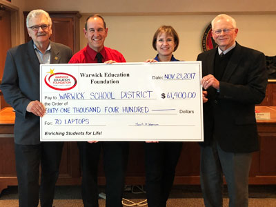 Check Presented By Warwick Education Foundation