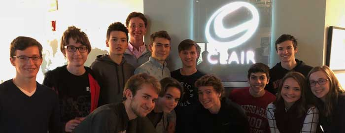 Warwick High School Students Visit Clair Global