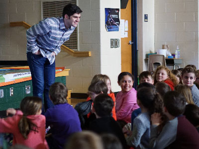 Alum J.J. Vulopas Returns to John Beck to Share His Children's Book