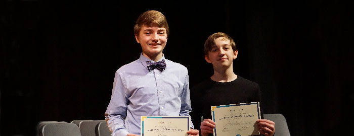 8th-Grader Carter Hain Takes First Place at WMS Geography Bee