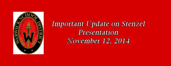 Update on Stenzel Presentation